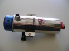 Reservatorio de oleo rde 600ml em aluminio, ja vem com um filtro de respiro, tem 21cm de comprimento e 6 cm de largura,