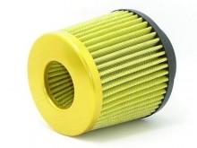 Filtro de ar esportivo duplo fluxo de ar, acompanha base com 2 medidas de encaixe 62.0mm/70.0mm padrão universal.  Ideal para carros a partir de 1.0 cilindradas em diante cilindradas tem em media ganho real de potência de até 6 hp, indicado para carros com perda de potência (gás).  Elemento filtrante em tecido lavável a cada 3 meses ou a cada 3000 km de uso com produto neutro.  Secagem obrigatória com jato de ar.  Diversas Cores